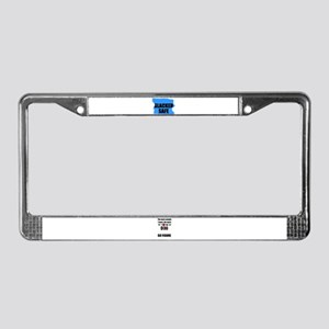 SLACKER SAFE License Plate Frame