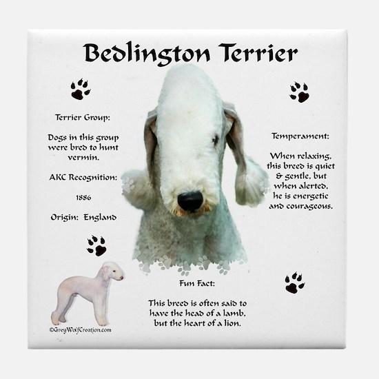 Bedlington 1 Tile Coaster