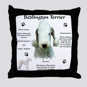 Bedlington 1 Throw Pillow
