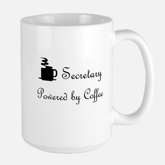 secretary coffee lover Large Mug