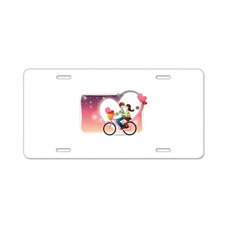 Romantic couple Aluminum License Plate