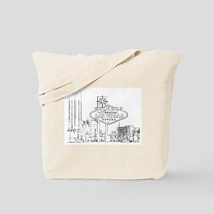 B/W Las Vegas Tote Bag