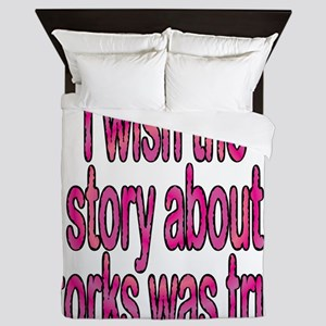 I Wish the story about storks was true Queen Duvet
