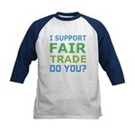 I Support Fair Trade Kids Baseball Jersey