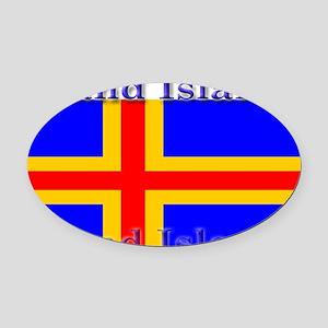 Aland Islands Oval Car Magnet