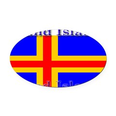Aland Islands Oval Car Magnet