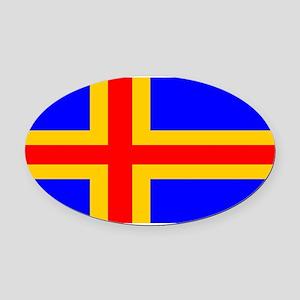 Aland Isles blank Oval Car Magnet