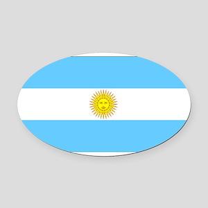 Argentinablank Oval Car Magnet