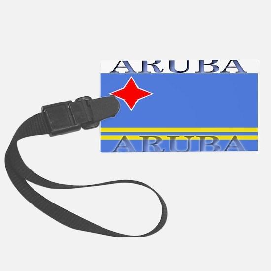 Aruba.jpg Large Luggage Tag
