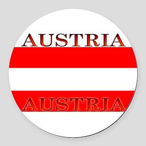 Austria Round Car Magnet