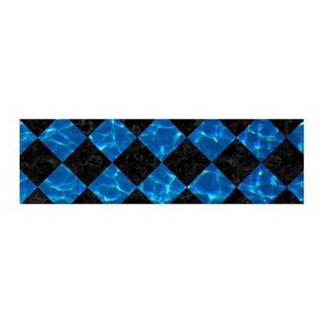 SQUARE2 BLACK MARBLE & DEEP BLUE W 20x6 Wall Decal