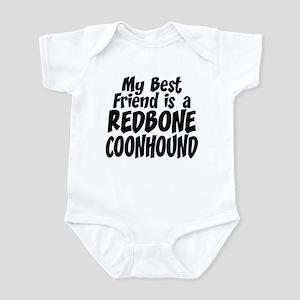 Redbone Coonhound FRIEND Infant Bodysuit