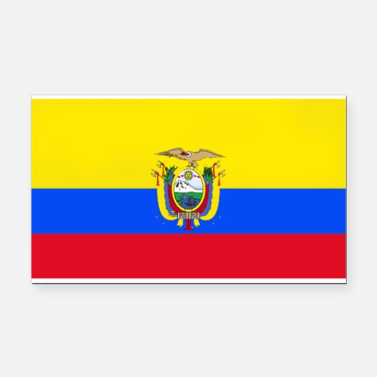 Ecuadorblank.jpg Rectangle Car Magnet