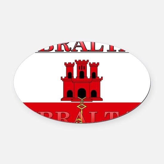 Gibraltar.jpg Oval Car Magnet