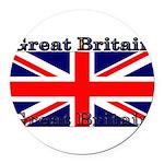 GreatBritain Round Car Magnet