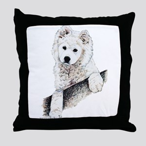 Samoyed Puppy Throw Pillow