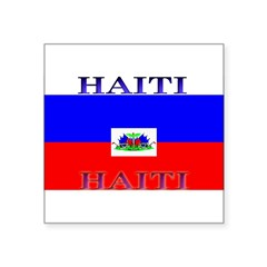Haiti Square Sticker 3