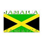 Jamaica Rectangle Car Magnet