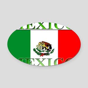 Mexicoblack Oval Car Magnet