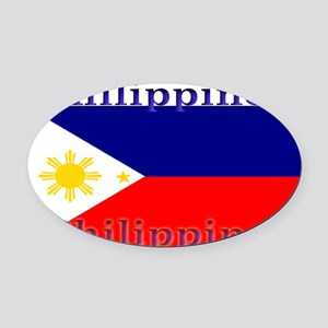 Philippines Oval Car Magnet