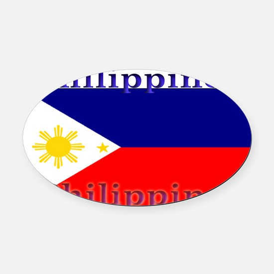 Philippines.jpg Oval Car Magnet