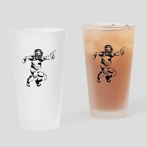 Baseball Catcher Drinking Glass
