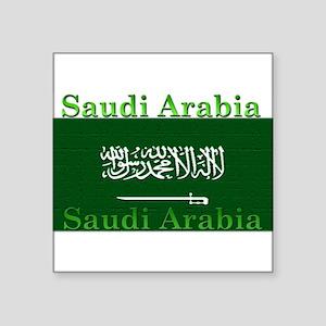 "SaudiArabia Square Sticker 3"" x 3"""