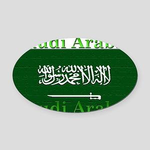 SaudiArabia Oval Car Magnet