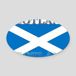 Scotland2 Oval Car Magnet