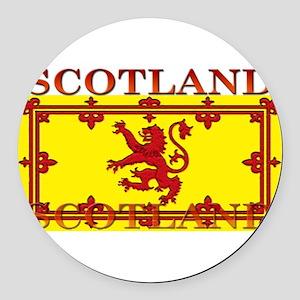 Scotland Round Car Magnet