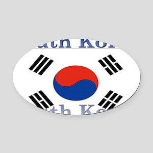 SouthKorea Oval Car Magnet
