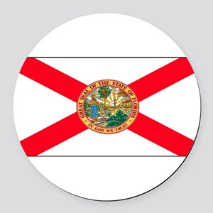 Floridablank Round Car Magnet