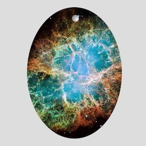 Crab Nebula Oval Ornament