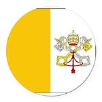 Vaticanblank Round Car Magnet