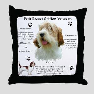 PBGV 1 Throw Pillow