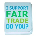 I Support Fair Trade baby blanket