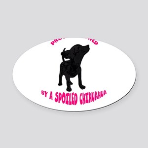 SPOILED Oval Car Magnet
