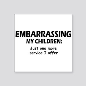 "Embarrassingblue Square Sticker 3"" x 3"""