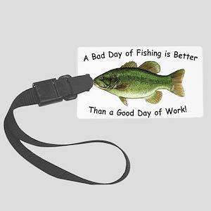 Fishingday Large Luggage Tag