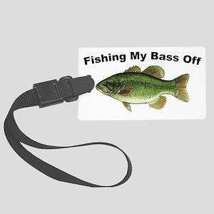 Fishingmybassoff Large Luggage Tag