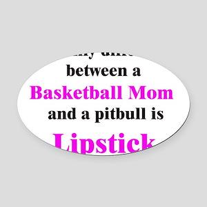 BasketballMom Oval Car Magnet