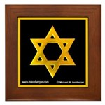 Star of David Framed Tile