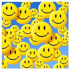 Smiley face symbols Poster