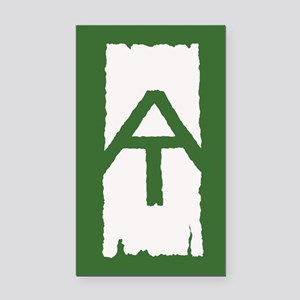 Appalachian Trail White Blaze Rectangle Car Magnet