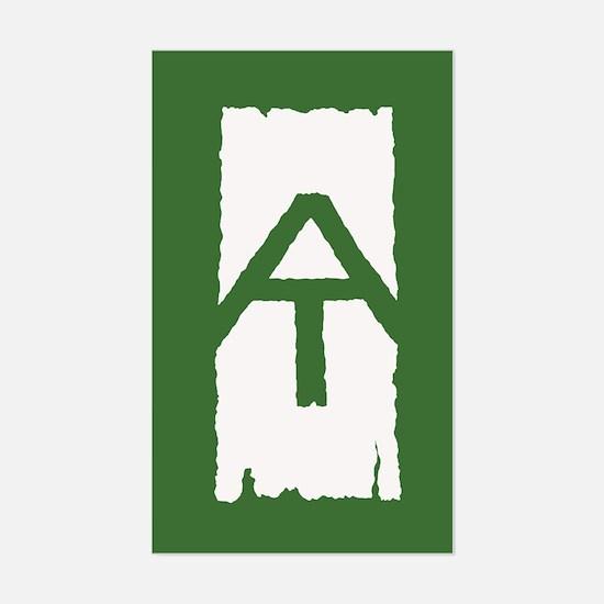 Appalachian Trail White Blaze Sticker (Rectangle)