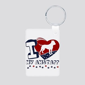 Amstaff Aluminum Photo Keychain