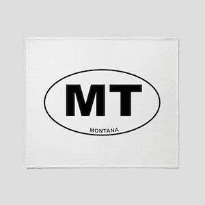 Montana State Throw Blanket