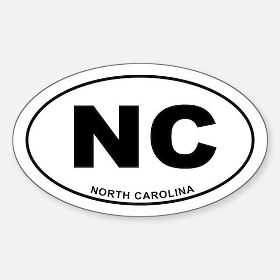 North Carolina State Sticker (Oval)