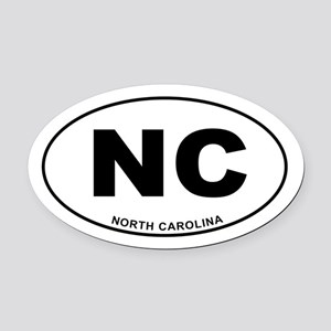 North Carolina State Oval Car Magnet