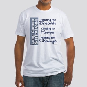 Breathe-Hope-Change Lung Cancer Survivor Fitted T-
